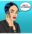 Business Lady Talking on the Phone Pop Art vector image vector image