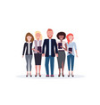 businesspeople standing together mix race business vector image