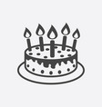 cake with candle icon simple flat pictogram for vector image vector image