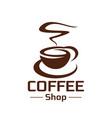 coffeeshop coffee cup steam icon vector image vector image