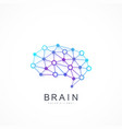colorful template brain logo artificial vector image