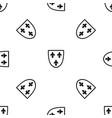crest pattern seamless black vector image vector image
