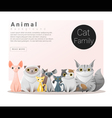 Cute animal family background with Cats 1 vector image