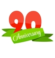 Cute Template 90 Years Anniversary Sign vector image vector image