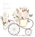 cute with rose flowers in a potter your garden vector image vector image