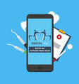 dental clinic book an appointment online entry vector image