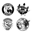 dinosaur emblems labels badges logos vector image