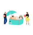 dog protection concept vector image