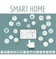 Eco friendly smart house concept Infographic vector image vector image