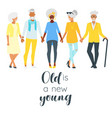 elderly senior man and woman vector image