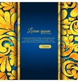 Elegant ornamental card with lace gold pattern and vector image vector image