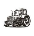 farm tractor sketch agriculture farming vector image vector image