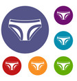 female underwear icons set vector image vector image