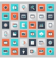 Flat Seo Icon set vector image
