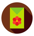 Flower Garden Seeds Package Circle Icon vector image vector image
