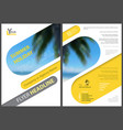flyer template summer holiday vector image vector image