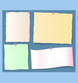 four paper template for notes vector image