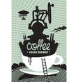 fresh coffee preparation vector image vector image