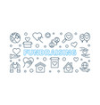 fundraising concept outline horizontal vector image vector image