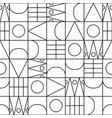 geometric line shapes seamless pattern vector image