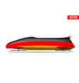 germany bob for bobsleigh vector image vector image