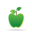 green apple logo graphic icon vector image vector image