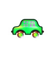 green home car toy icon bright for baby color in vector image vector image