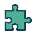 green puzle piece vector image vector image