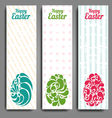 Grunge vertical banners set with ornamental easter vector image vector image