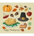 Happy Thanksgiving set vector image vector image