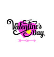 happy valentine s day celebration text for vector image vector image