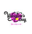 happy valentine s day celebration text vector image vector image