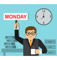 hard work on monday vector image