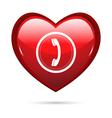 heart calling vector image vector image