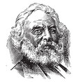 henry wadsworth longfellow vintage vector image vector image