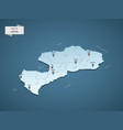 isometric 3d latvia map concept vector image vector image