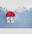 japanese paper doll against rain teruterubozu vector image vector image