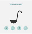 ladle icon simple vector image