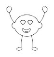 lime or lemon in love heart eyes fruit kawaii icon vector image