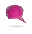 Low poly geometric speech bubble vector image vector image