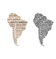 map of continent south america vector image vector image