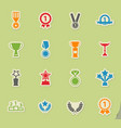 medals and tropheys simply icons vector image vector image