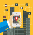 Mobile applications concept Flat design H vector image