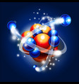 molecule atoms and particles vector image
