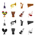 music and tune icon set of vector image