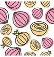onion seamless pattern vegetable for use as vector image