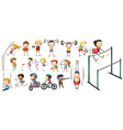 People doing different kinds of sports vector image