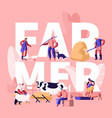 people doing farming job concept farmer vector image vector image