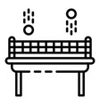 ping pong game icon outline style vector image vector image