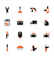 plumbing service color icon set vector image